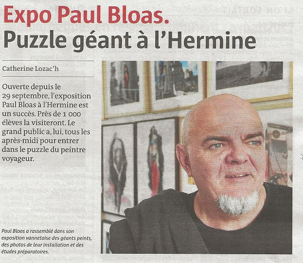 Paul Bloas au château de l'Hermine à Vannes jusqu'au 3 Novembre